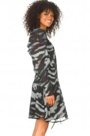 Freebird |  Dress with print Omra | black  | Picture 6