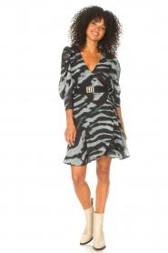 Freebird |  Dress with print Omra | black  | Picture 3