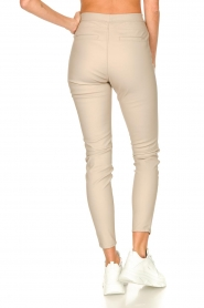 Knit-ted |  Faux leather legging Amber | natural  | Picture 6