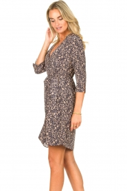 Freebird |  Mini dress with floral print Odette | blue  | Picture 5