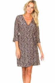 Freebird |  Mini dress with floral print Odette | blue  | Picture 4