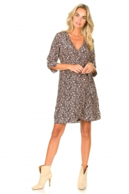 Freebird |  Mini dress with floral print Odette | blue  | Picture 3
