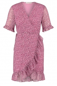 Freebird |  Wrapped dress with print Rosy | pink  | Picture 1