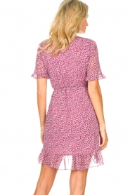 Freebird |  Wrapped dress with print Rosy | pink  | Picture 6