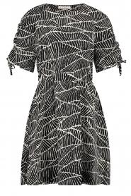 Freebird |  Dress with print Jayla | black  | Picture 1