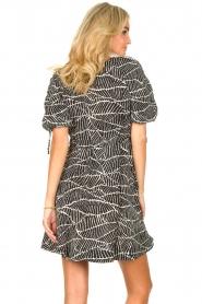 Freebird |  Dress with print Jayla | black  | Picture 8