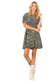 Freebird |  Dress with print Jayla | black  | Picture 3
