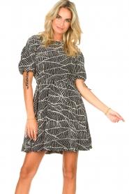 Freebird |  Dress with print Jayla | black  | Picture 4