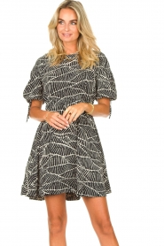 Freebird |  Dress with print Jayla | black  | Picture 5