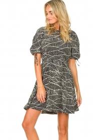 Freebird |  Dress with print Jayla | black  | Picture 6
