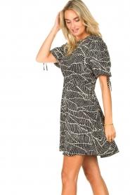 Freebird |  Dress with print Jayla | black  | Picture 7