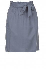 Knit-ted |  Skirt with matching tie belt | blue  | Picture 1