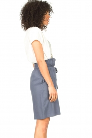 Knit-ted |  Skirt with matching tie belt | blue  | Picture 6