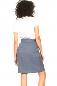 Knit-ted |  Skirt with matching tie belt | blue  | Picture 7