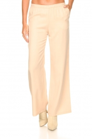 Knit-ted |  Flared pants Marloes | beige  | Picture 4