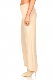 Knit-ted |  Flared pants Marloes | beige  | Picture 5