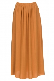 Knit-ted | Maxi rok met zakken Rosita | brown