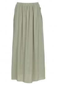 Knit-ted |   Maxi skirt with pockets Rosita | green  | Picture 1