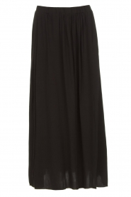 Knit-ted |  Maxi skirt with pockets Rosita | black