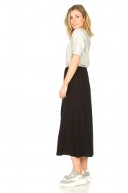 Knit-ted | Maxi rok met zakken Rosita | zwart   | Afbeelding 6