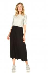 Knit-ted | Maxi rok met zakken Rosita | zwart   | Afbeelding 2
