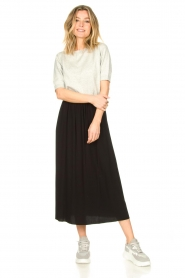 Knit-ted |  Maxi skirt with pockets Rosita | black  | Picture 5