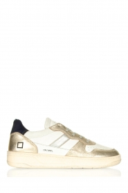 D.A.T.E |  Flat vintage sneakers Olive | gold  | Picture 1