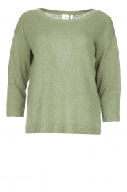 Knit-ted |  Basic sweater Annemone | green  | Picture 1