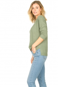 Knit-ted |  Basic sweater Annemone | green  | Picture 5