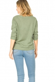 Knit-ted |  Basic sweater Annemone | green  | Picture 6