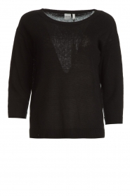 Knit-ted |  Basic sweater Annemone | black  | Picture 1