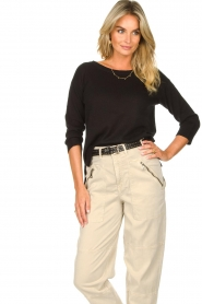 Knit-ted |  Basic sweater Annemone | black  | Picture 5