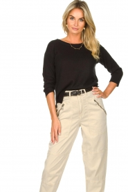 Knit-ted |  Basic sweater Annemone | black  | Picture 4