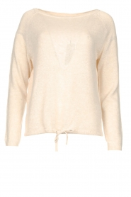 Knit-ted | Basic sweater met boothals Poppy | naturel  | Afbeelding 1