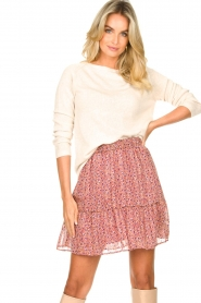Knit-ted | Basic sweater met boothals Poppy | naturel  | Afbeelding 4