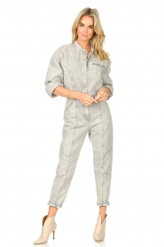 IRO |  Denim jumpsuit Marce | light grey  | Picture 2