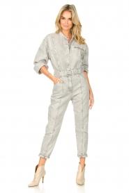 IRO |  Denim jumpsuit Marce | light grey  | Picture 3