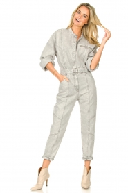 IRO |  Denim jumpsuit Marce | light grey  | Picture 5