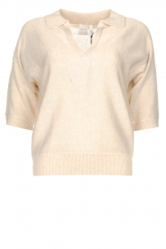 Knit-ted |  Sweater with v-neck Buttercup | natural  | Picture 1