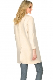 Knit-ted |  Long cotton cardigan Sammy | beige  | Picture 6