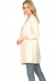 Knit-ted |  Long cotton cardigan Sammy | beige  | Picture 5