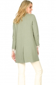 Knit-ted |  Long cotton cardigan Sammy | green  | Picture 7