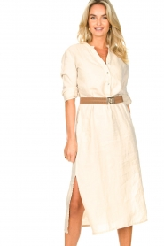 Knit-ted    Linen dress Rebecca   beige    Picture 2