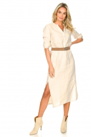Knit-ted    Linen dress Rebecca   beige    Picture 3