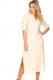 Knit-ted    Linen dress Rebecca   beige    Picture 5
