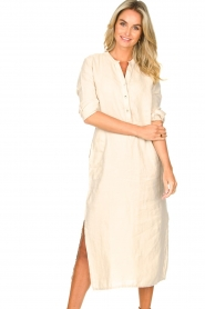 Knit-ted    Linen dress Rebecca   beige    Picture 4