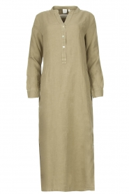 Knit-ted |  Linen dress Rebecca | green  | Picture 1
