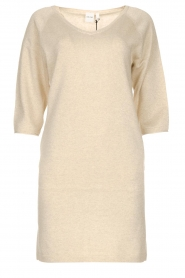 Knit-ted |  Sweater dress with lurex Daffodil | natural  | Picture 1