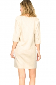 Knit-ted |  Sweater dress with lurex Daffodil | natural  | Picture 8