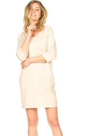 Knit-ted |  Sweater dress with lurex Daffodil | natural  | Picture 6